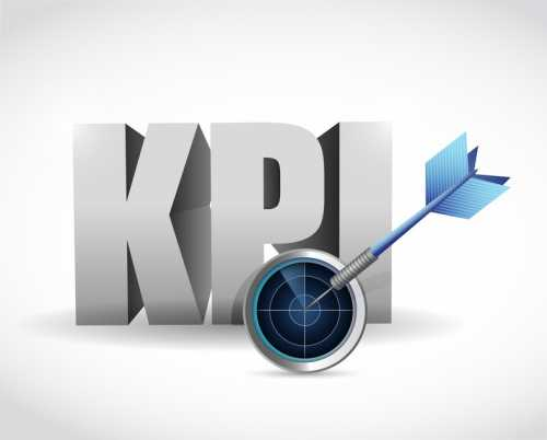 kpi radar sign illustration design